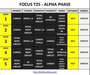 print  focus  workout calendars