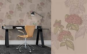 Papier Peint Bureau : papiers peints fleuris pour un coin bureau po tique blog ~ Melissatoandfro.com Idées de Décoration
