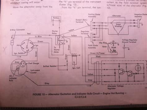1974 Cj5 Wiring Diagram by 1974 Cj5 Alternator Wiring Jeep Cj Forums