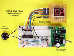 Build A 2-digit Up  Down Counter With A Picaxe 20m2