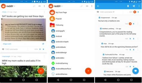 reddit app android early official reddit android app review finds bugs