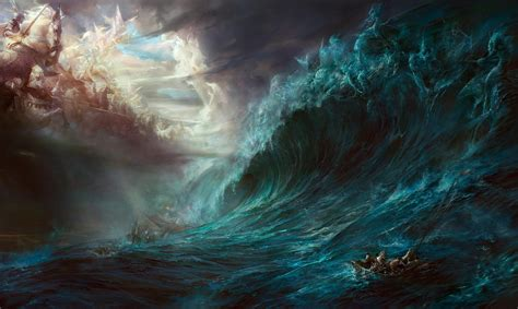 fantasy art heaven  hell wallpapers hd desktop  mobile backgrounds
