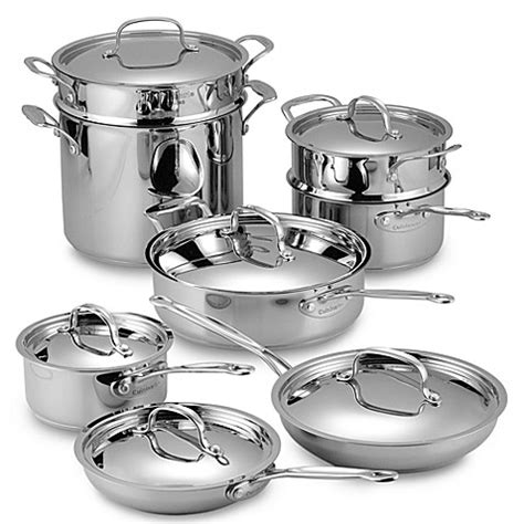 cookware stainless classic piece cuisinart chef cooking chefs beyond bath bed steel professional pans pots pan bedbathandbeyond food