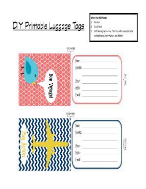 Printable Luggage Tags Images Printable Luggage Tags Www Pixshark Images