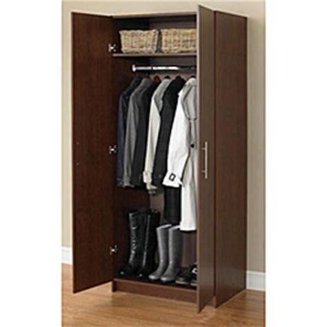 Wardrobe 24 Inches Wide by Closets Wardrobe 72 Inch Walnut Storage Cabinet 13705985
