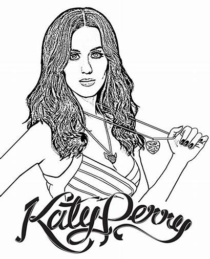Coloring Perry Katy Singer Adults Children Famous