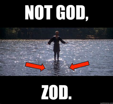 Water Memes - not god zod how to walk on water quickmeme