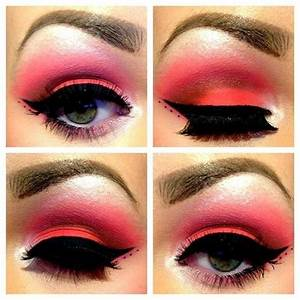 Dramatic red eye makeup | ..Costumes:Accessories.. | Pinterest