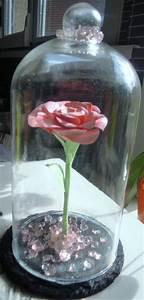 Rose Eternelle Sous Cloche : cr ation rose r alis e papier sous cloche style belle et ~ Farleysfitness.com Idées de Décoration