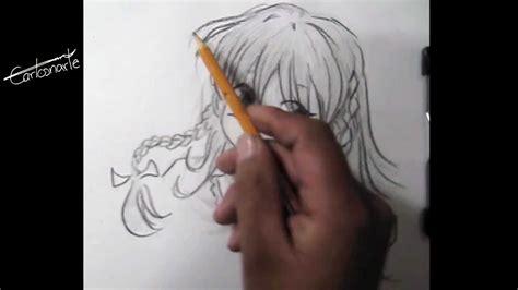 como dibujar anime  manga dibujo  lapiz chica paso  paso tecnica estilo manga youtube
