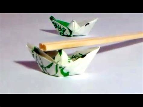 Origami Boat Chopstick Rest by Origami Boat Chopstick Rest Folded Out Of A Chopstick