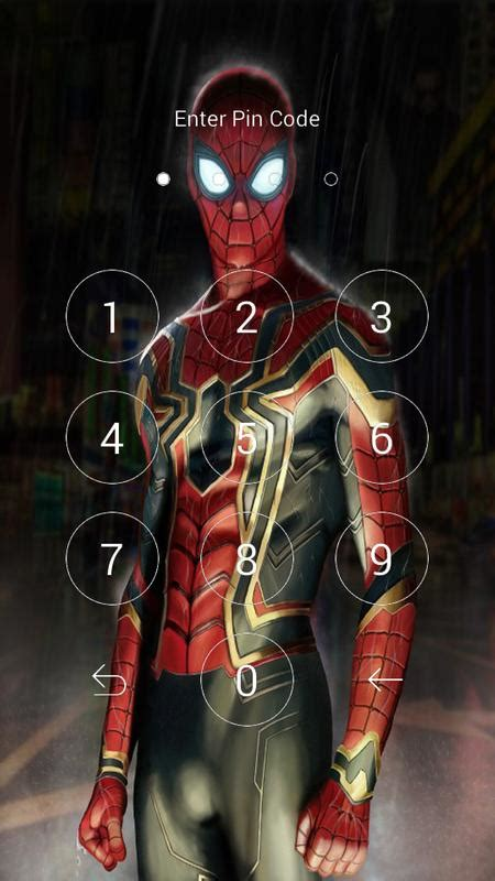 iron spider suit wallpaper lock  android apk