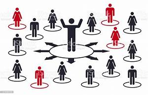 Social Distancing Isolation Crowd People Diagram Stock