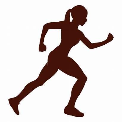 Corriendo Silueta Mujer Transparent Running Mulher Correr