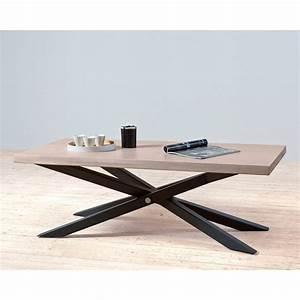 Pied Metal Table Basse : table bois pieds metal maison design ~ Dailycaller-alerts.com Idées de Décoration
