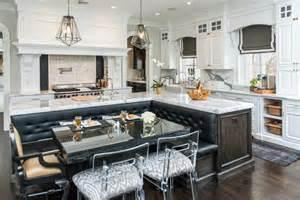 kitchen island with seating area 41 white kitchen interior design decor ideas pictures