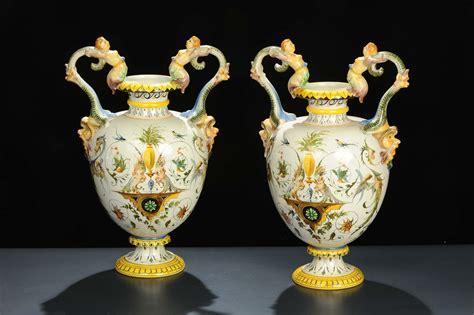 vasi capodimonte antichi coppia di vasi in porcellana ginori xix secolo