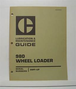 Cat Caterpillar Lubrication Maintenance Guide 980 Wheel