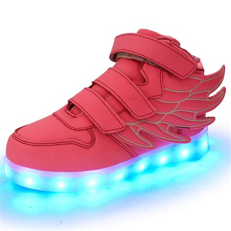 light up sneakers for youth light up shoes for kids luminous wings led shoes mcbshoes