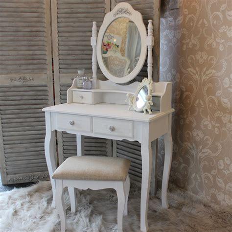 shabby fran 231 ais chic blanc coiffeuse set miroir tabouret