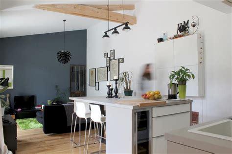 sejour ouvert sur cuisine comment bien choisir îlot de cuisine en fonction de intérieur