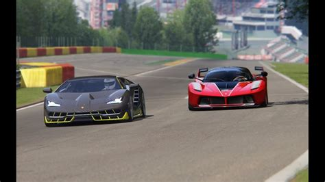 battle lamborgini centenario  ferarri fxx  racing  spa