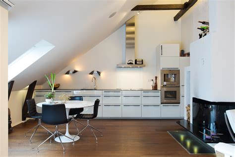 super functional attic kitchens   impress