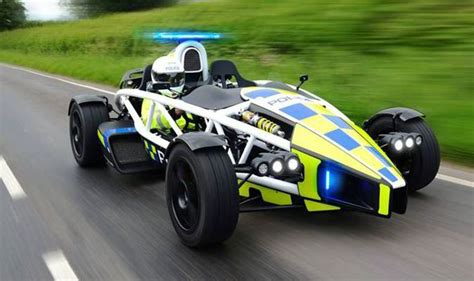 british police force  delivery  top gear track