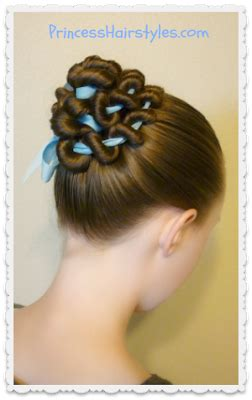 ribbon coiled bun hairstyle tutorial hairstyles