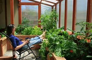 Attached greenhouse & studio - Rustic - Landscape - denver