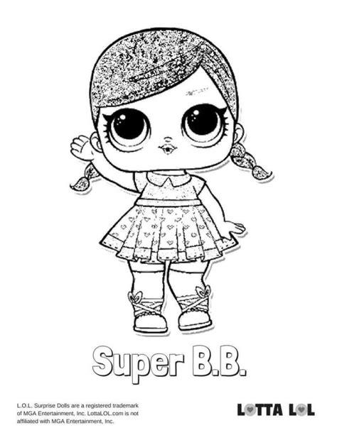 super bb glitter lol surprise doll coloring page lotta lol