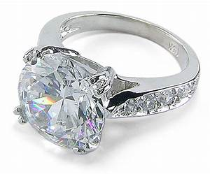 winston 4 carat round cubic zirconia pave cathedral With 4 carat wedding rings
