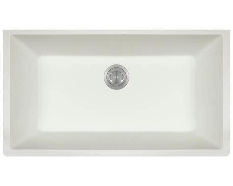 848 White Large Single Bowl Undermount TruGranite Kitchen Sink