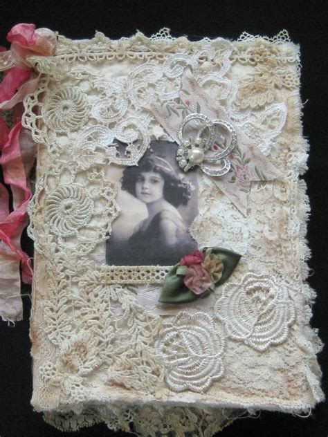 shabby chic fabric journals fabric journals shabby chic fabric and lace on pinterest
