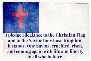 Free Printable Pledge of Allegiance to the Christian Flag