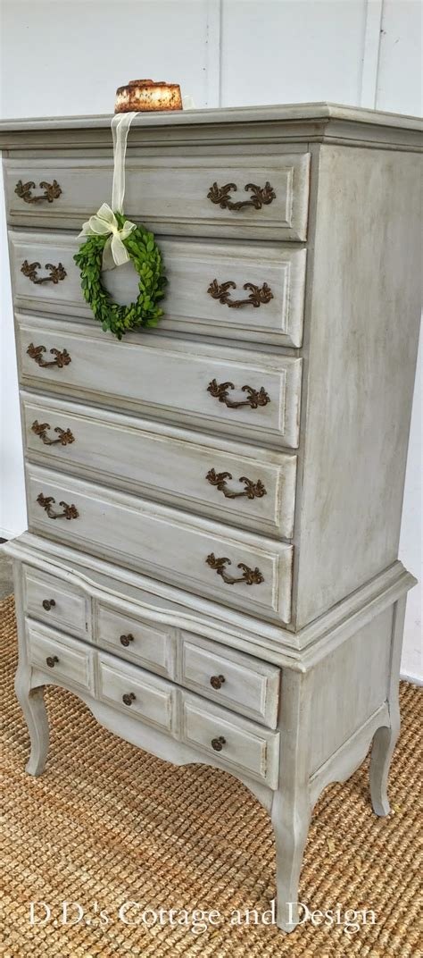 dds cottage  design grey french provincial chest