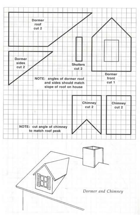 gingerbread house blueprint dormer chimney
