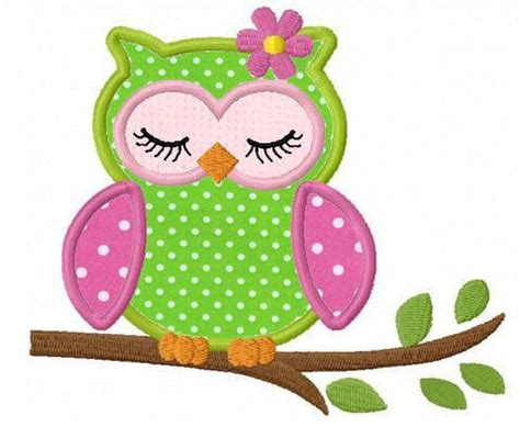 free applique designs sleeping owl applique machine embroidery design