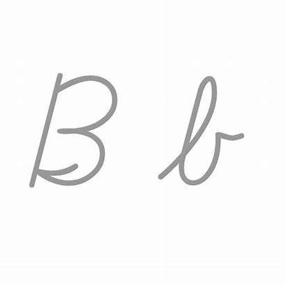Letter Cursive Write Lowercase Cursiva Gifs Transparent
