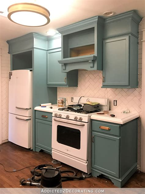 teal kitchen cabinets my freshly painted teal kitchen cabinets