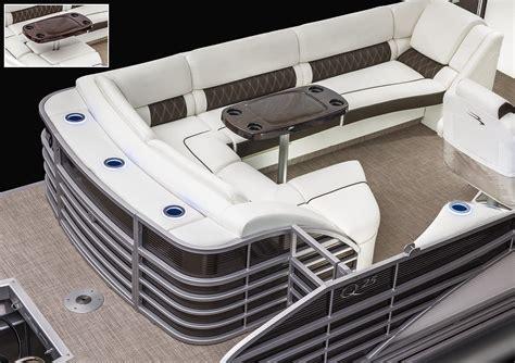 Pontoon Boat Seat Configurations by 2017 Q25 Club Pontoon Boats