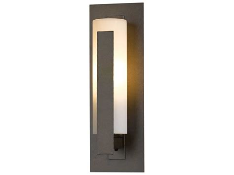hubbardton forge vertical led outdoor wall light hbf307285d