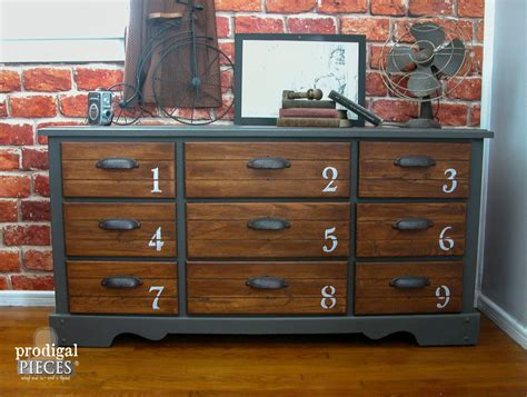 Living Room Makeovers Diy by Vintage Dresser Features Industrial Vibe Prodigal Pieces