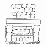 Fireplace Coloring Houses Folders Colpages sketch template
