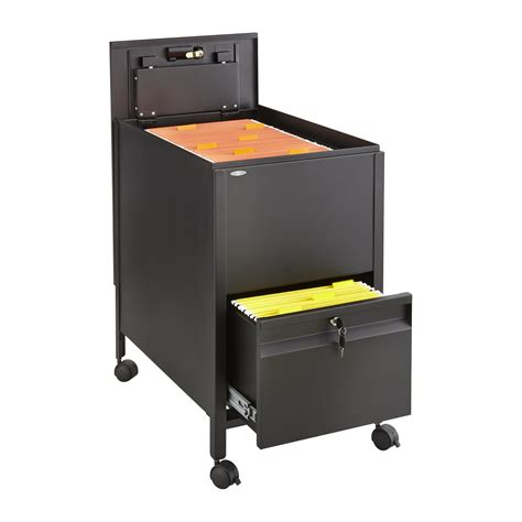 Tub Files by Locking Mobile Tub File With Drawer Letter Size Safco