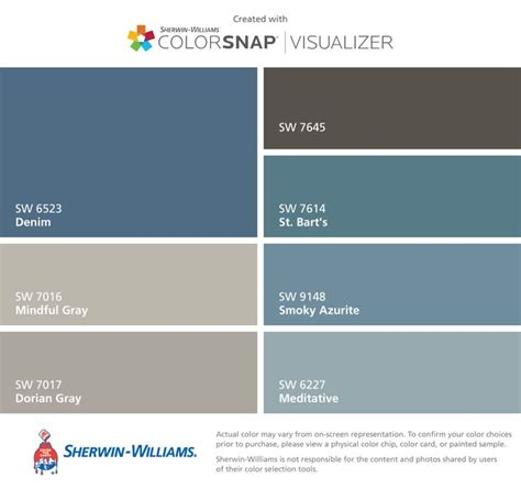 sherwin williams paint color denim i found these colors with colorsnap 174 visualizer for iphone