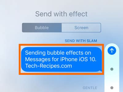 how send messages with effects on iphone ios 10