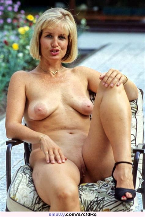 Blonde Milf Cougar Outdoors Patio Naturaltits