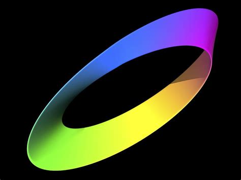 Mobius Strip, Computer Artwork Photograph by Pasieka