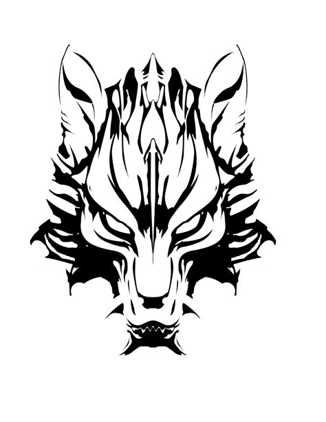 Slight update to Cloud's Fenrir in 2019 | Wolf tattoo design, Wolf tattoos, Tribal wolf tattoo